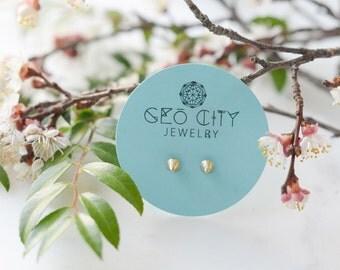 Spike Stud Earrings | Geometric Studs | 18k Gold Plated Simple Earring | Cone Earrings
