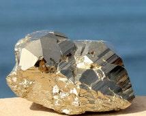 Golden PYRITE Altar Stone Prosperity Abundance Crystal Money Protection Manifestation