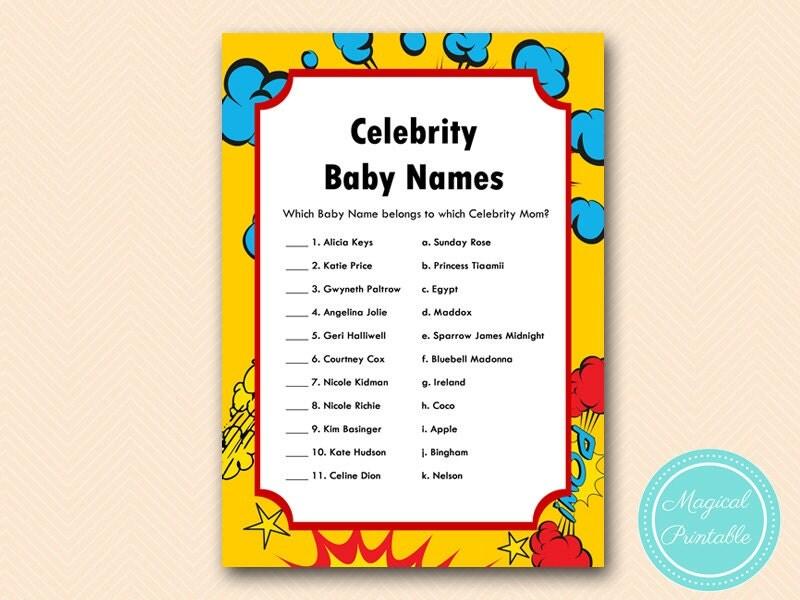 Baby shower games: Baby name games | BabyCenter