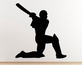 Cricket Wall Sticker - Batsman Hitting For Six Wall Sticker