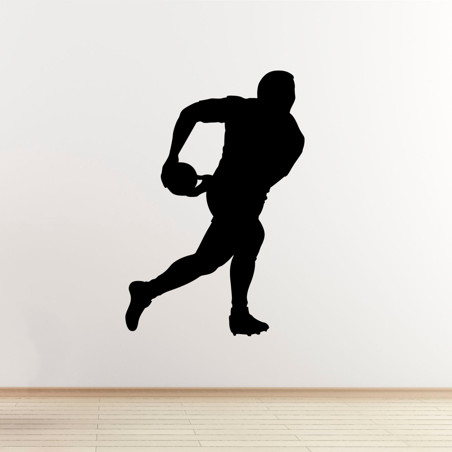 rugby player wall sticker passing the ball sports wall art