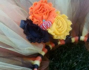 Pumpkin Patch Princess-tutu and headband set