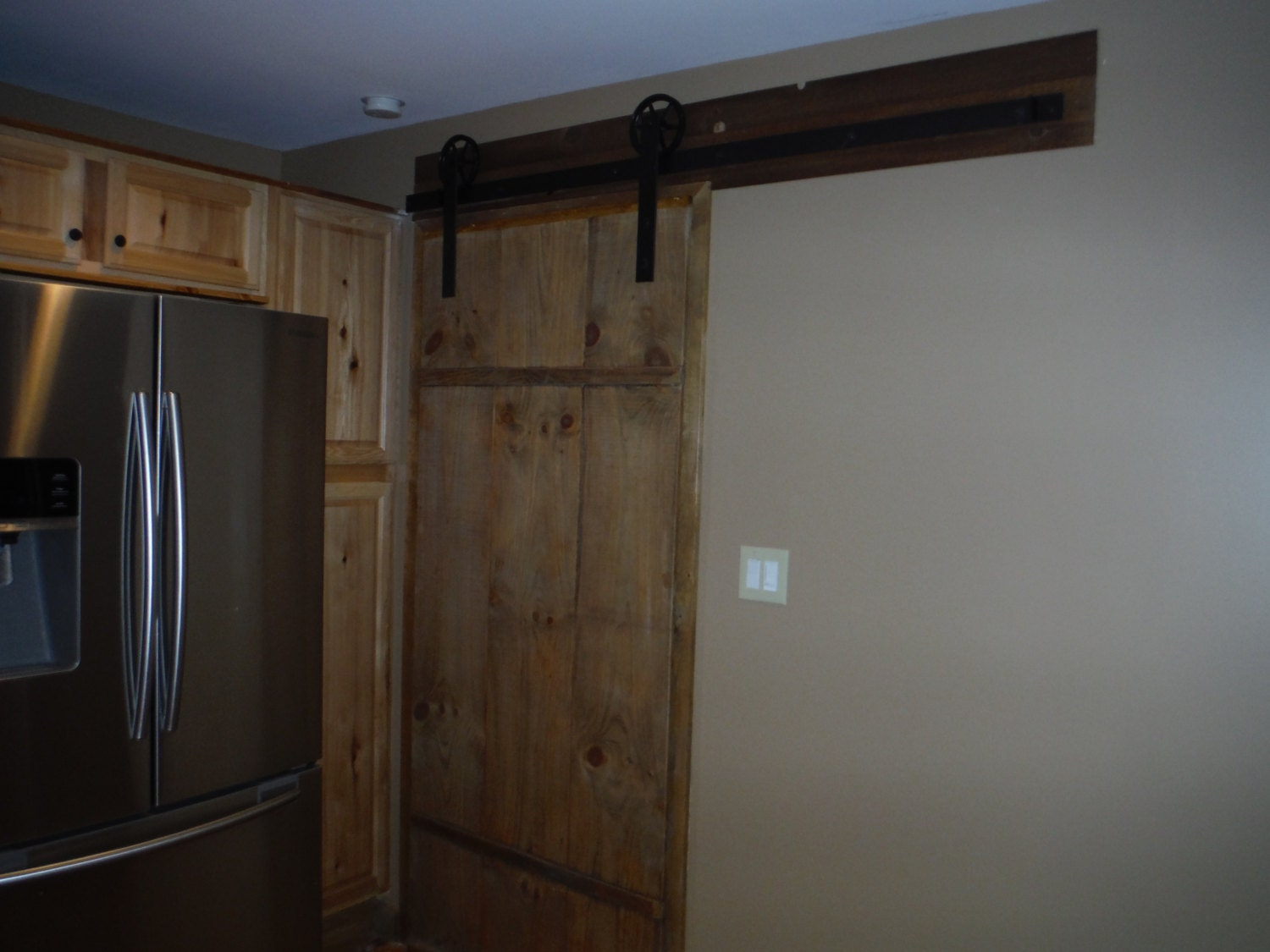Custom made sliding barn door from donnacoletta on etsy studio for Custom sliding doors