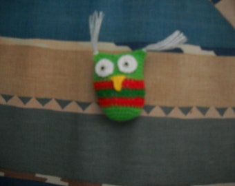 Hand Crocheted Christmas Ornament Tiny Owl Co Cute! Hi-298