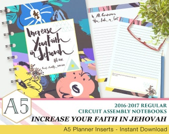 JW Circuit Assembly Regular Notebook - Increase Your Faith In Jehovah - 2016-2017 - English