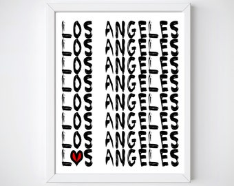 Los Angeles Wall Art los angeles wall art | etsy