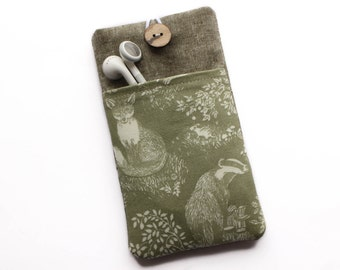 iPhone SE Case, iPhone 7 Case, iPhone 6 Case, iPhone 5 Case, iPhone 6 Plus Sleeve, iPhone 4 Case, iPhone 6s Case, Fox, Badger, Green
