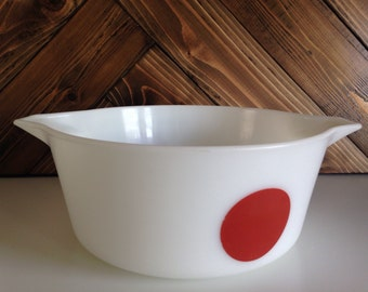 Vintage 70's Pyrex Moon Red Dot Casserole Dish Only 2.5 Quart