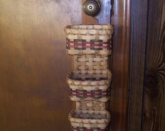 Handwoven Basket: Triple Doorknob Basket