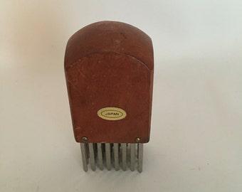 Vintage Meat Tenderizer, Wood Handle, Made in Japan, Kitchen Gadget