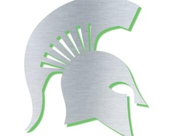 Spartan - LED Backlit Logo Floating Metal Wall Art