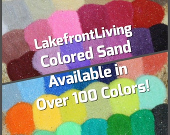 Colored Sand for Wedding Unity Sand - Craft Projects, Kids Play or Fairy Garden - 1/2 Pound