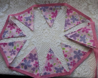 Pink & Lilac Floral Bunting