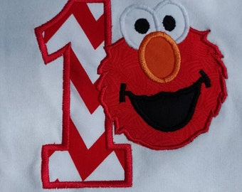 Elmo First Birthday Shirt/Number 1..Any Size