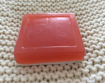 Red Handmade SOAP with White under layer