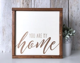 your are my home lets stay home rose gold home sign lets stay home sign you are my home sign framed home sign shabby chic