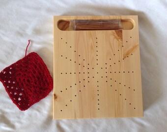 Handmade pine crochet blocking board