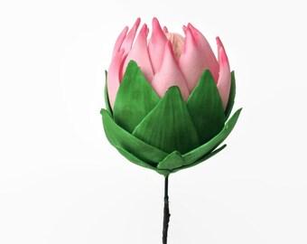 King Protea Sugar Flower for wedding cake toppers, gumpaste decorations, diy brides, cake decor