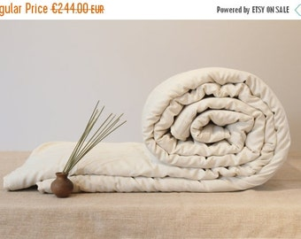 SALE -20% QUEEN COMFORTER - for all seasons, handmade wool comforter, luxury bedding, organic duvet insert, housewarming gift