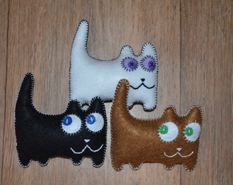 Soft kitty, cat felt toy cat, felt animals, kitten.