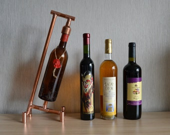 COPPER BOTTLE HOLDER 8, wine holder - wine display - wine furniture - wine expositor - wine equipment - wine accessories - wine presenter