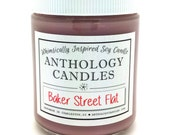 Baker Street Flat Candle - Whimsically Inspired Soy Candle, Book Candle, Scented Soy Candle, 8oz Jar