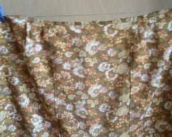 Vintage half apron, Brown cotton apron, Kitchen retro apron, Retro apron