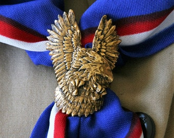 Eagle Scout Kerchief Slide - 24K gold plated