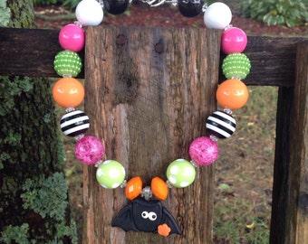 Sale, Girls chunky necklace, halloween, halloween necklace, chunky necklace, girls necklace, kids necklace, bubblegum bead necklace, bubble