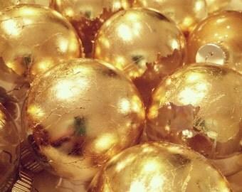Goldleaf glass ball ornament