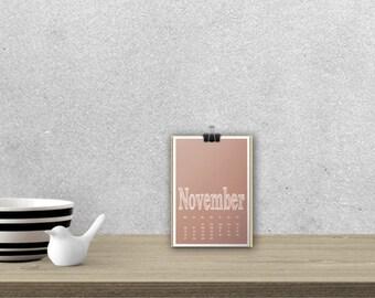 Desk Calendar 'ARCHISTICO', planar // A5