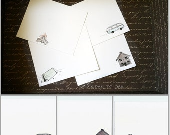 Camping We Will Go- Flat Notecards Set of 8