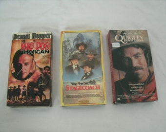3 Pack of Western VHS Tapes