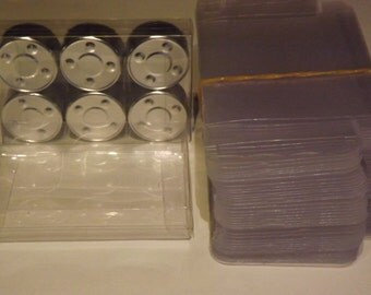100 Tea Light Boxes Clear plastic Packaging/Presentation boxes