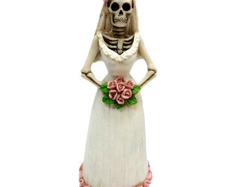 Wedding Gift Bride Skeleton 15cm | Wedding Cake Topper | Nemesis Now