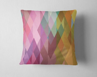Prism geometric pattern throw pillow