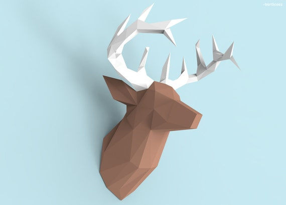 Deer Head Papercraft PDF Pack