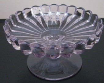 Heisey Glass Crystolite Footed Cheese 5 1/2""