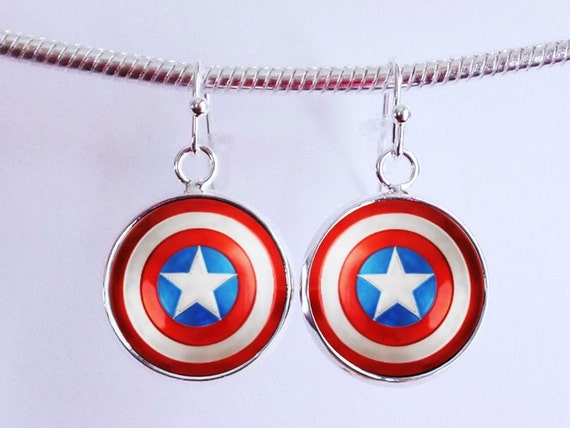 captain america earrings captain america earrings earrings by 6043