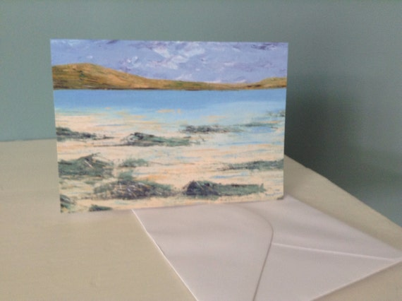 Blank Greeting Card Featuring an Original Design by Jo Booth -  Islay Seascape