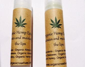 Honey lip balm all natural , made with organic honey & beeswax