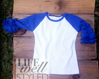 RESTOCKED!! Royal Blue Ruffle Raglan