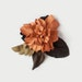 Leather Flower Brooch, orange brown tan real leather, gift for her, gift for mom, handmade accessories, daisy flower