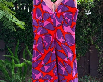 50s-60s bright boomerang dress!