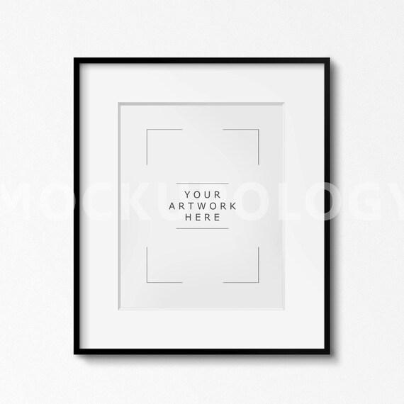 8x10 16x20 24x30 Vertical Digital Clean Matted Black Frame