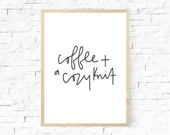 Coffee + A Cozy Knit