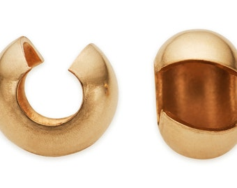 10 Pcs 2.5 mm 14K Gold Filled Crimp Covers (GF4002101)