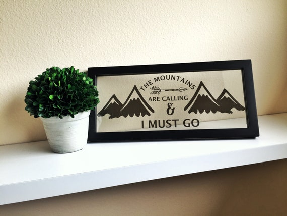 The mountains are calling mountain wall art i must go sign for The mountains are calling and i must go metal sign