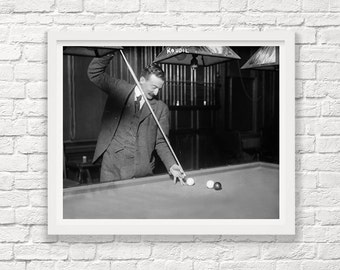 Billiards Photograph - Vintage Billiards Art - Billiards Room Decor - Pool Hall Art - Pool Wall Art - BIlliards Decor - Billiards Poster