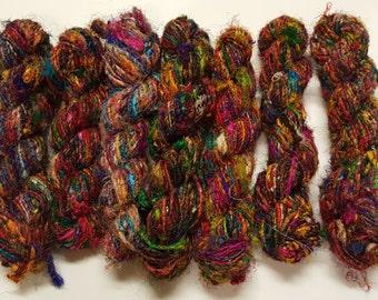 Recycled Silk Yarn 100g ea